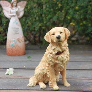 Simulation Model of British Golden Retriever Dog Statue Resin Handicrafts