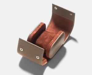 Single design top grain leather watch organizer box travel watch case