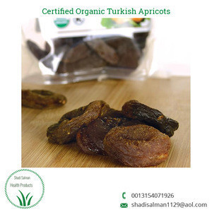 Unsulphured Certified Organic Turkish Fresh Dried Apricots for Sale