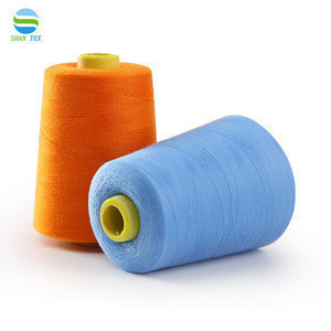 Wholesale 40/2 poly poly core spun 100% Polyester Yarn Staple Sewing Thread Sewing Supplies for Garment