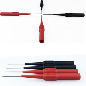 With 4 mm jack Wholesale Insulation Piercing Needle Non-destructive Test Probes Tool For Multimeter & Oscilloscopes Red/Black