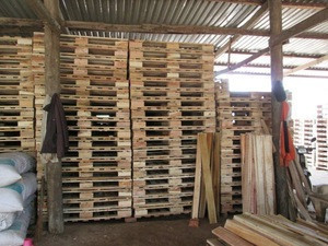 Wooden pallet made from acacia timber