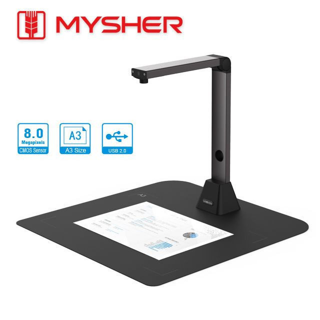 A3 Size, 8.0MP, Document Camera