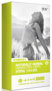 Yunnan Baiyao Qingyitang Herbal Recipe Feminine Wipes