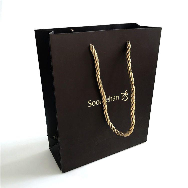 Cheap Luxury Shopping Kraft Paper Bag with Logos