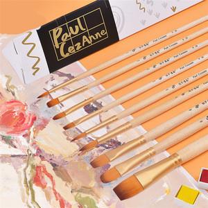 10pcs Professional Nylon Artist Paint Brushes for Acrylic Gouache Oil Painting