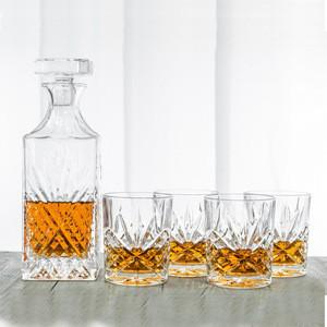 27oz Irish Cut Lead Free Crystal Whiskey Decanter Set Engraved Whiskey Decanter Set