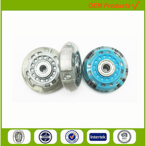 60mm flashing roller skate shoes wheels