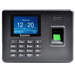 A3 2.8 inch Color TFT Screen Biometric Fingerprint Time Attendance, USB Communication Office Time Attendance Clock (Black)