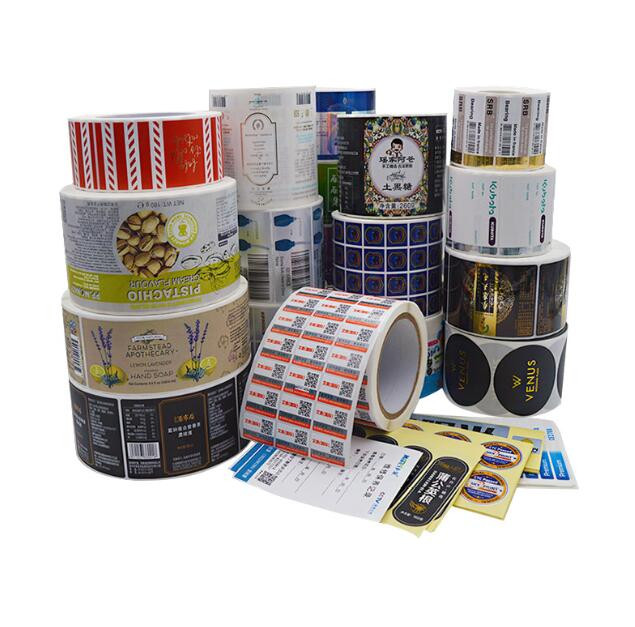 Adhesive customized coated paper bar code label composite paper can be printed drum adhesive