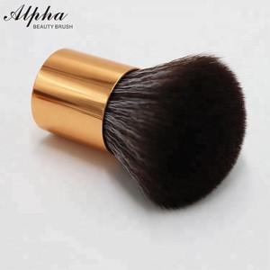 Alpha Vegan Mens Nylon Shaving Beard Golden Kabuki Brush