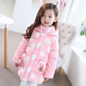 Beautiful princess little children girls winter coats