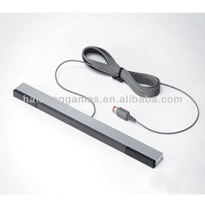 Black and white wired sensor bar for Wii U