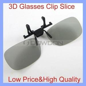 Black Lens Clip Spectacles Watch Movie Vivid Polarized 3D Glasses