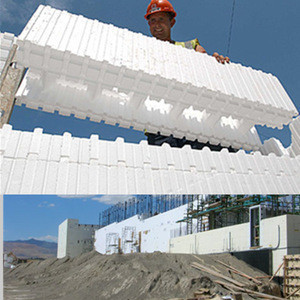 Building construction material eps Insulating concrete form block for sale