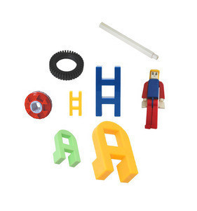 Clever colorful firm environmental material toy parts