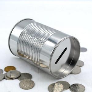 Coin bank gift money metal tin cans Piggy Bank tin money box
