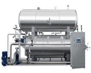 CST 1200# double layer water bath retort autoclave for eggs