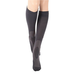 Custom 20-30mmHg Closed Toe Knee High Graduated Compression Stocking For Varicose Veins
