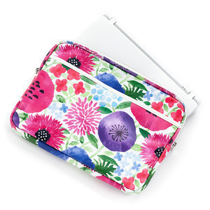 Custom oem fashion cute cotton fabric bag waterproof laptop pouch with zipper