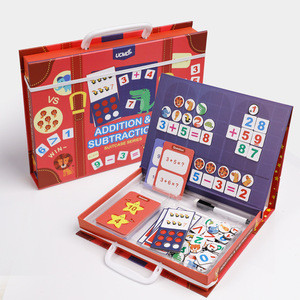 Educational Toys Math Learning Preschool Mathematics Education Games Magnetic Puzzle for Kids