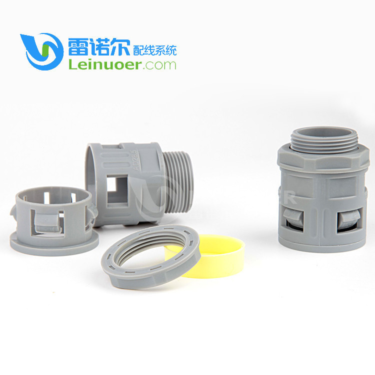 Electrical standard straight fitting polyamide wire loom connector for automotive