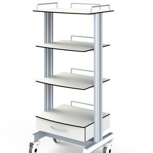 High Quality Wholesale Hospital Carts Medical Endoscopy Trolley With Power Plugs