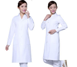 Hospital Uniform Polyester Cotton Long Sleeve Thicken dental Doctor's ESD medical White Lab Coat