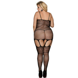 Hot black lace women's hollow-out  body stocking sexy lingerie pantyhose bodystocking women