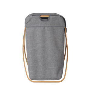 Hot Sale Bamboo X Frame Laundry Hamper with Cotton Canvas Liner