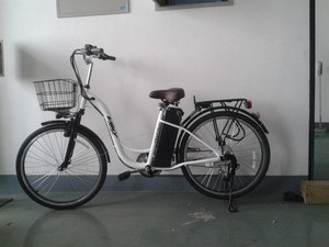 Japanese electric bicycle with CE certificate and basket for ladies