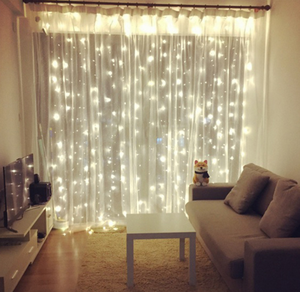 LED 3*3 m 300 wedding string lights decoration window curtain led light string romantic fairy string light