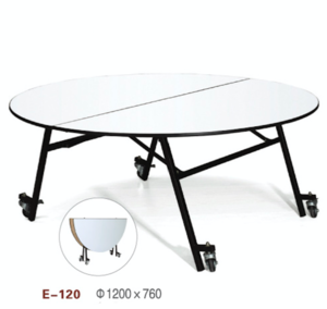Luxury wedding party round folding dining table with rotating centre