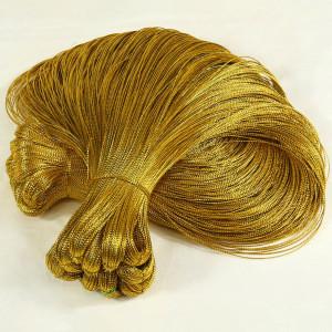 Manufacture gold  bold lines 8spun metallic yarn