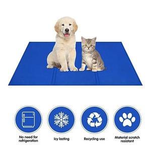 Pet Dog Cooling Mat Car Ice Pad Cooling Gel Mat Bed Non Toxic Summer Cushion Pad