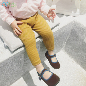 Q2-baby Wholesale New Style Pure Color Cotton Elastic Baby Leggings Pants