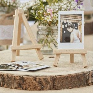 Rustic Country Wedding Sign Wood Holders Stands Mini Wooden Easels