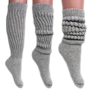 Thickened lengthened woollen leg warmers for ladies slouch socks