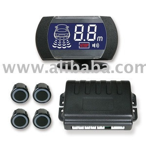 Ultrasonic Car Reverse Parking Sensor, Sensores deretroceso para Vehiculos with STN Blue LCD Screen, Microchip CPUs