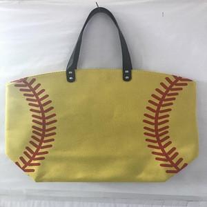 Wholesale Canvas Baseball Tote Bags Printed Softball Sports Durable Hand Bags