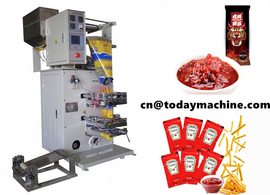 Multi sauce packaging machine for ketchup