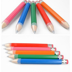 10PCS 35cm Colorful Thick Wooden Pencil for Gifts