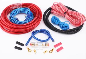 1500w Car Amplifier Wiring Kit Audio Subwoofer AMP RCA Power Cable AGU FUSE Set