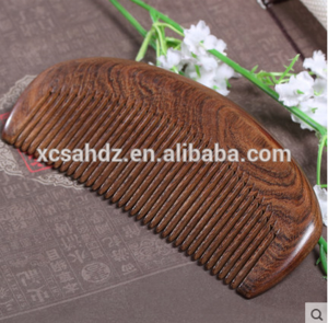 2018 China Top Quality Half Moon Shape Black Sandalwood Wood Hair Beard Comb