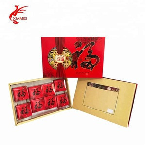 6/8 pieces mooncakes packing white cardboard paper low moq packaging box