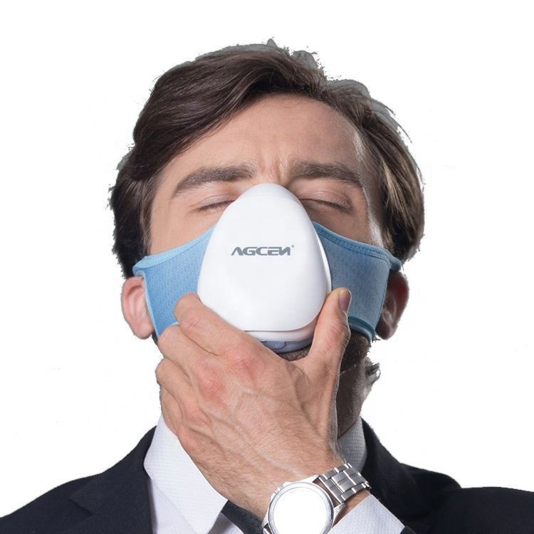 Agcen mini portable air cleaners personal masking with air filter activated carbon filter for sport