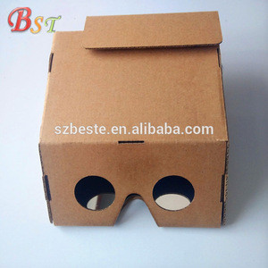 Ar cardboard virtual reality video google 3d glasses fit for Android and ios systems