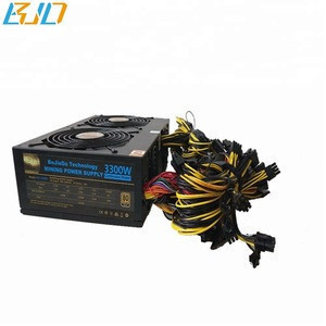 ATX PSU 3300W Bitcoin Miner PC Power Supply for ethereum coin 12 GPU Graphics Card Miner