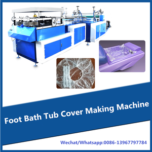 Automatic disposable foot bath tub cover making machine