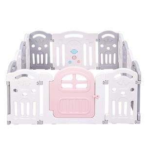 Baby Playpen for  Babies Playpens Set for Kids 12 Small Panel + Door + Game Panel